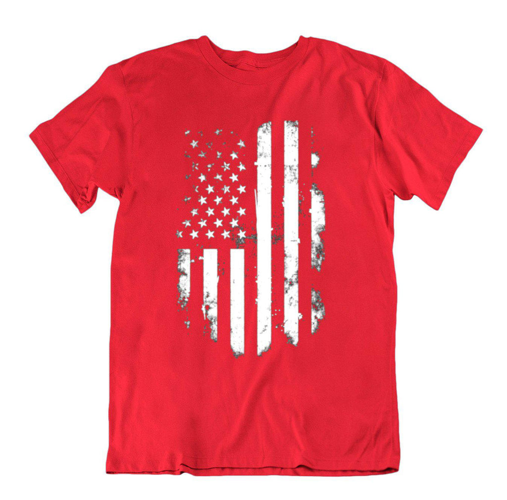 Vintage Distressed USA Flag T Shirt-Red-Small-Daily Steals