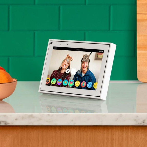 "Facebook Portal Mini Smart Video Calling 8"" Touch Screen Display-White-"