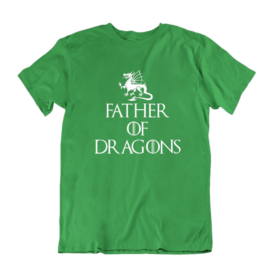 Daily Steals-Father of Dragons Funny Father's Day T Shirt-Men's Apparel-Kelly Green-Small-