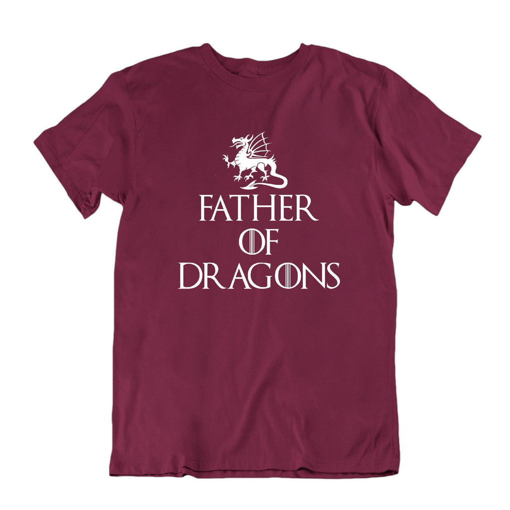 Daily Steals-Father of Dragons Funny Father's Day T Shirt-Men's Apparel-Maroon-Small-