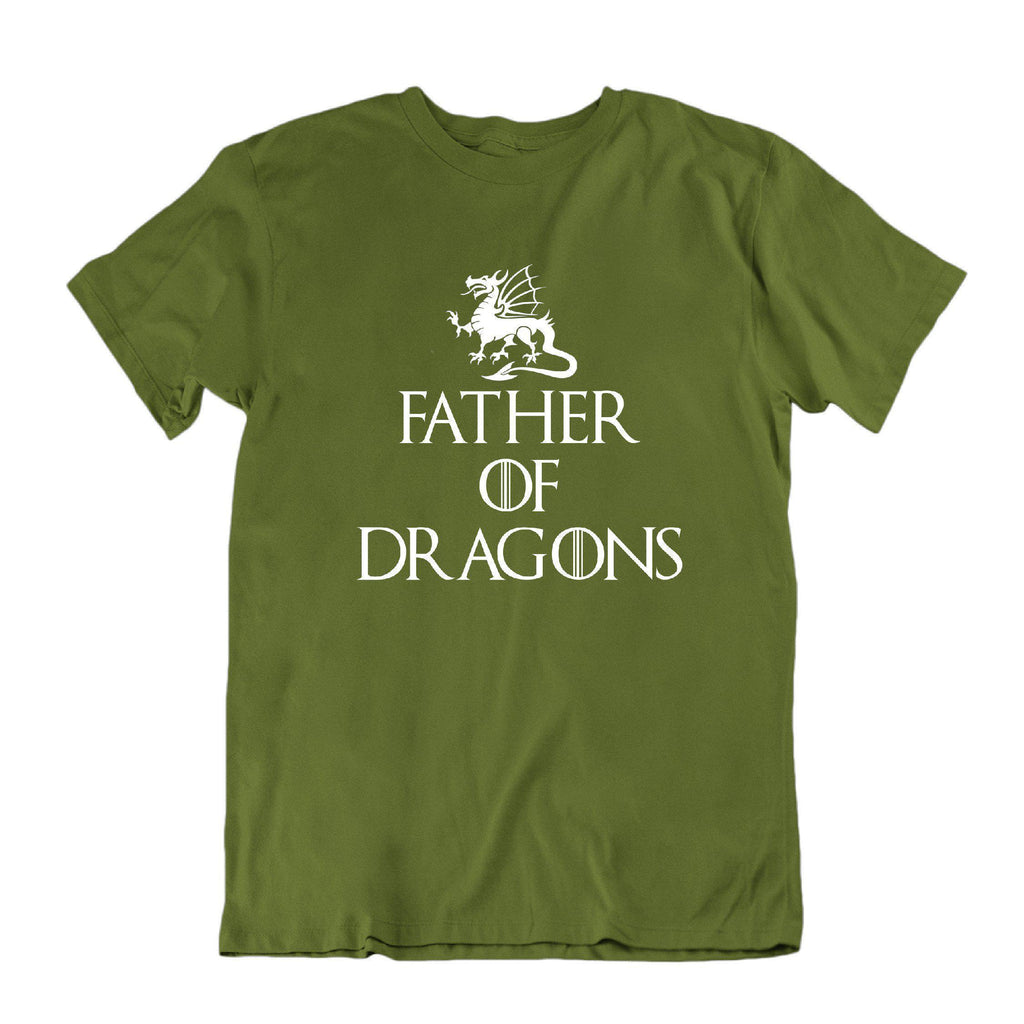 Daily Steals-Father of Dragons Funny Father's Day T Shirt-Men's Apparel-Military Green-Small-