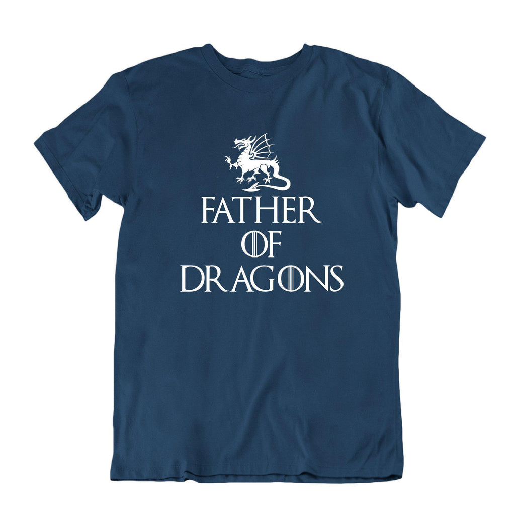 Daily Steals-Father of Dragons Funny Father's Day T Shirt-Men's Apparel-Navy Blue-Small-