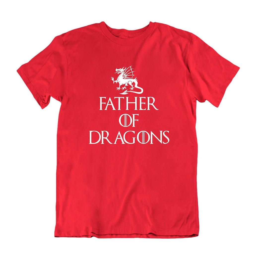 Daily Steals-Father of Dragons Funny Father's Day T Shirt-Men's Apparel-Red-X-Large-