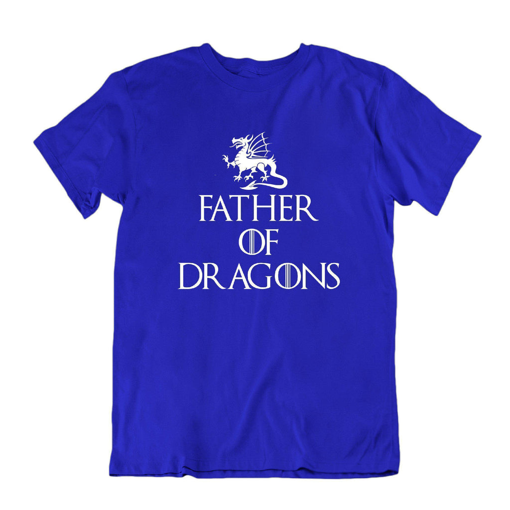 Daily Steals-Father of Dragons Funny Father's Day T Shirt-Men's Apparel-Royal Blue-Small-