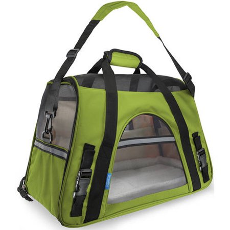 OxGord Soft Sided Cat/Dog Pet Carrier - FAA Airline Approved-Dark Green-Small-Daily Steals