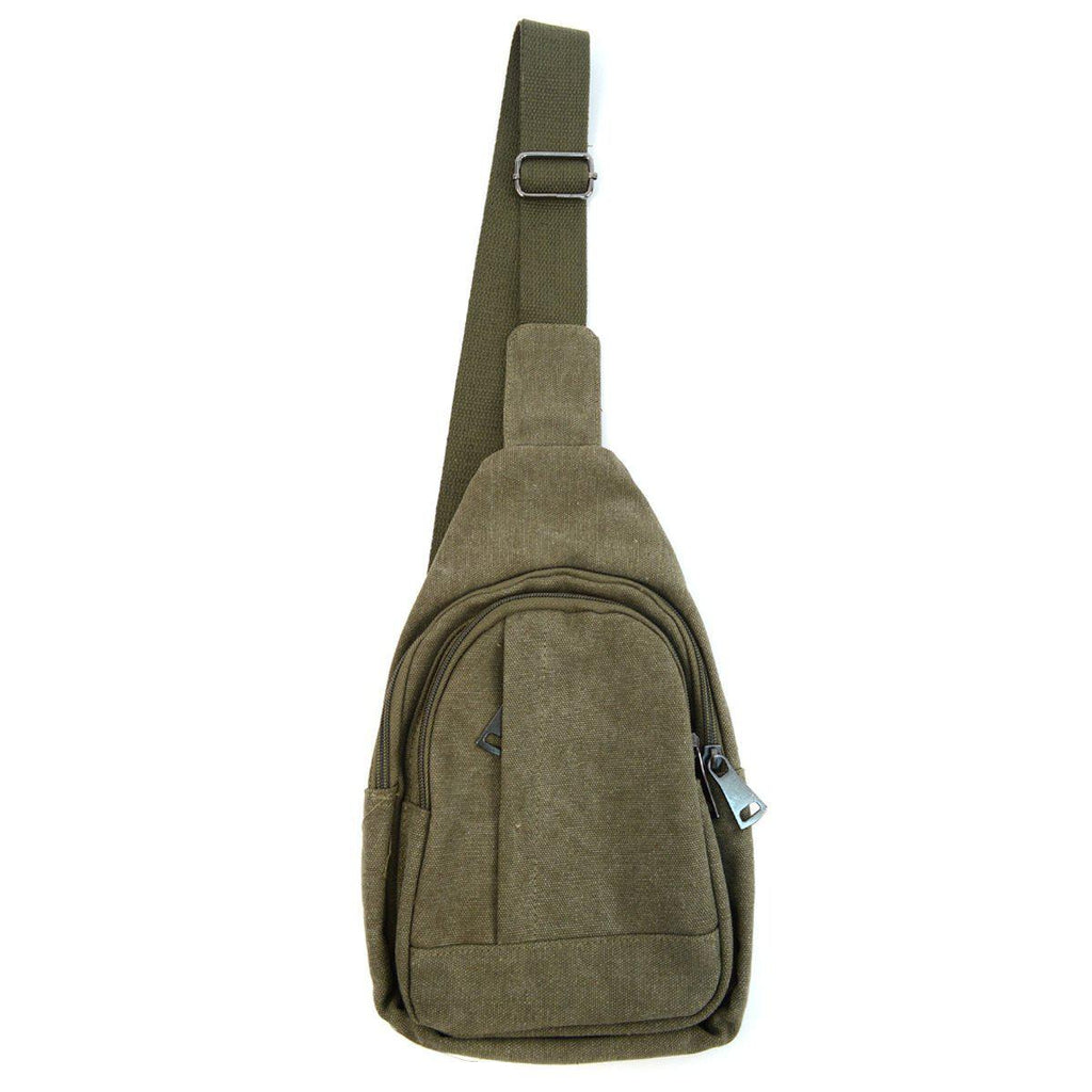 Crossbody Canvas Sling Bag Backpack with Adjustable Strap-Daily Steals