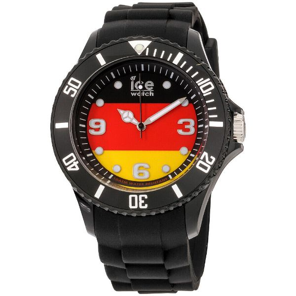 Daily Steals-Ice World Germany Edition Multi-Color Dial Silicone Strap Unisex Watch WO.DE.S.S.12 - 40mm-Watches-