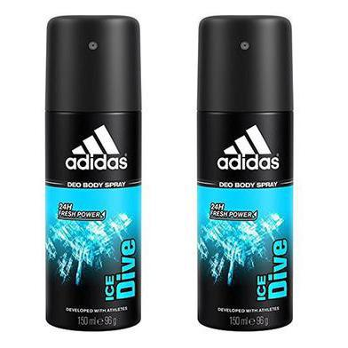 Adidas Ice Dive Deodorant Body Spray for Men - 2 Pack-Daily Steals