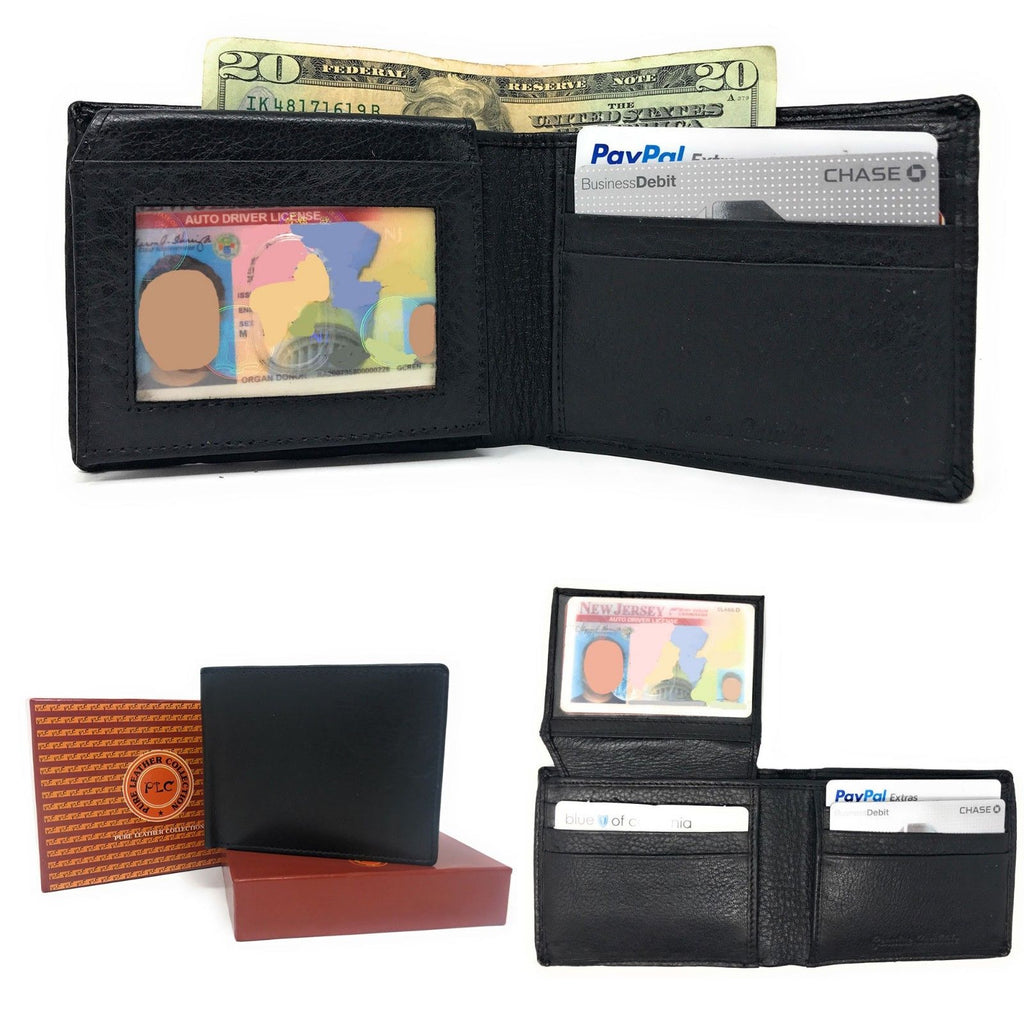 Daily Steals-Genuine Leather Bifold Wallets for Men and Women-Accessories-Black-