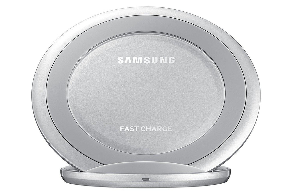 Daily Steals-Samsung Wireless Qi Charging Stand with Fast Charge Technology and 2A Wall Charger Adapter-Cell and Tablet Accessories-Silver-
