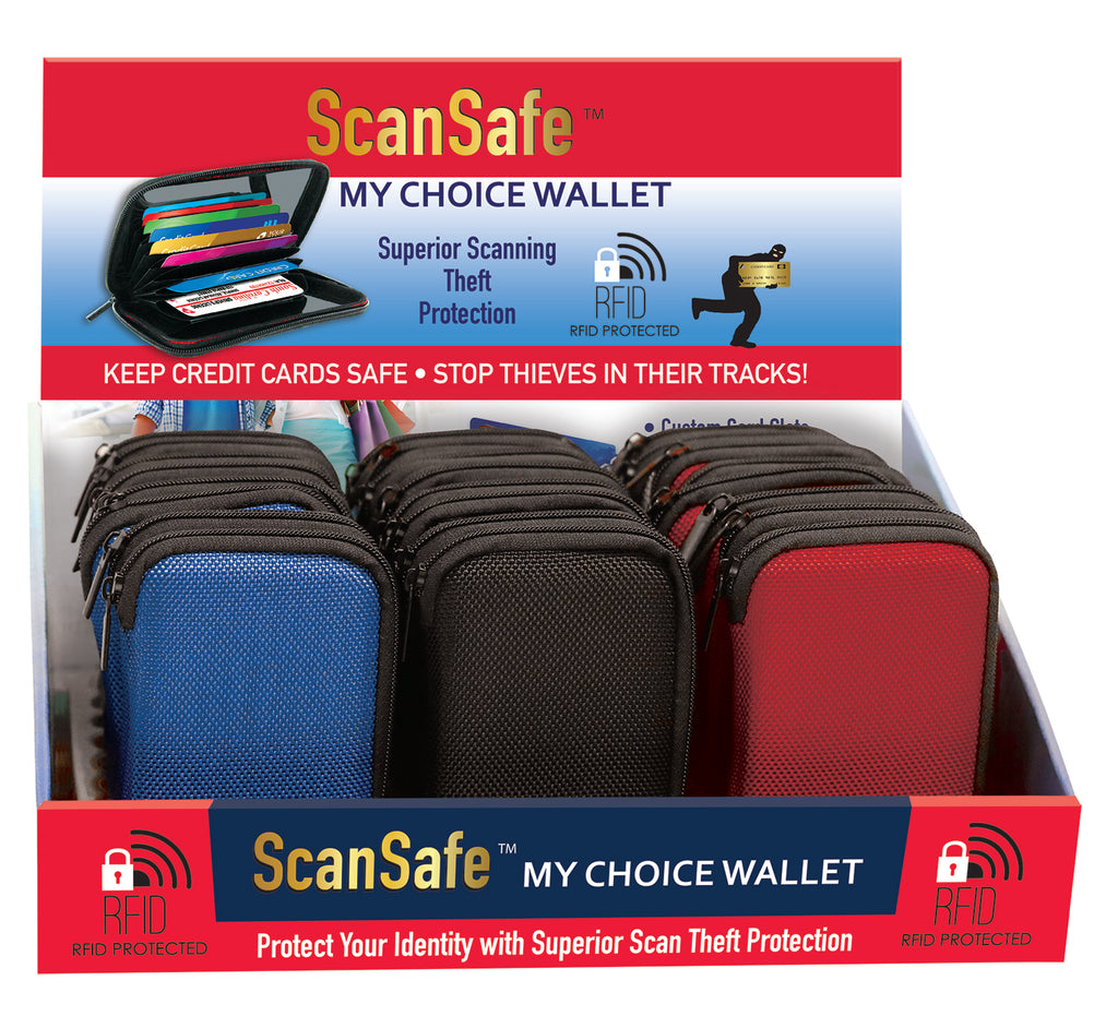 [3-Pack] ScanSafe MyChoice RFID Protection Wallet with Seven Slots