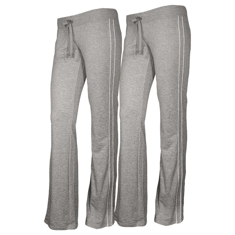 Women's French Terry Comfy Sweatpants - 1 or 2 Pack-Heather Grey + Heather Grey-2 Pack-L-Daily Steals
