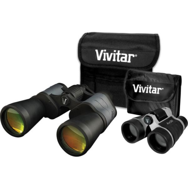 Vivitar 8x50 and 4x30 VS-843 Value Series Binocular Set-Daily Steals