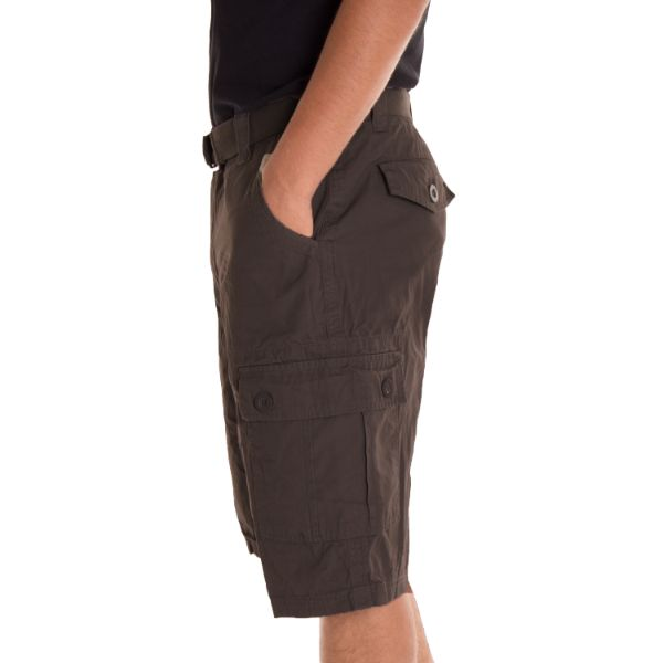 Alta Designer Fashion Men's Cargo Shorts, Twill Belt Included - Multiple Colors-Daily Steals