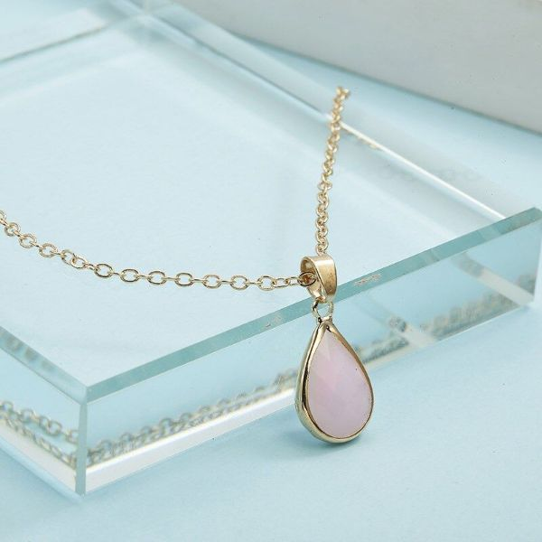 Cubic Zirconia Pear Shaped Necklace-White-Daily Steals