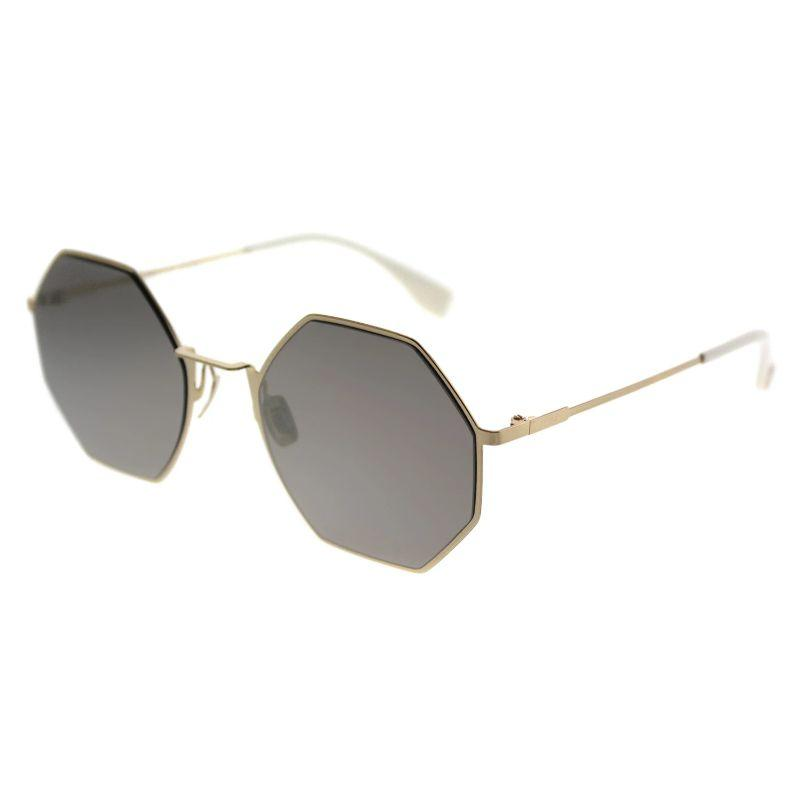 Fendi Eyeline FF 0292 J5G UE Gold Round Metal Sunglasses-Daily Steals