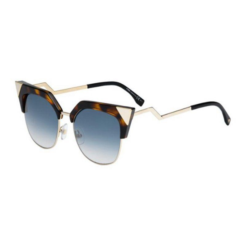 Daily Steals-Fendi FF 0149/S-0TLW-54/18 Cat-Eye Sunglasses Havana Gold/Azure 54mm-Sunglasses-