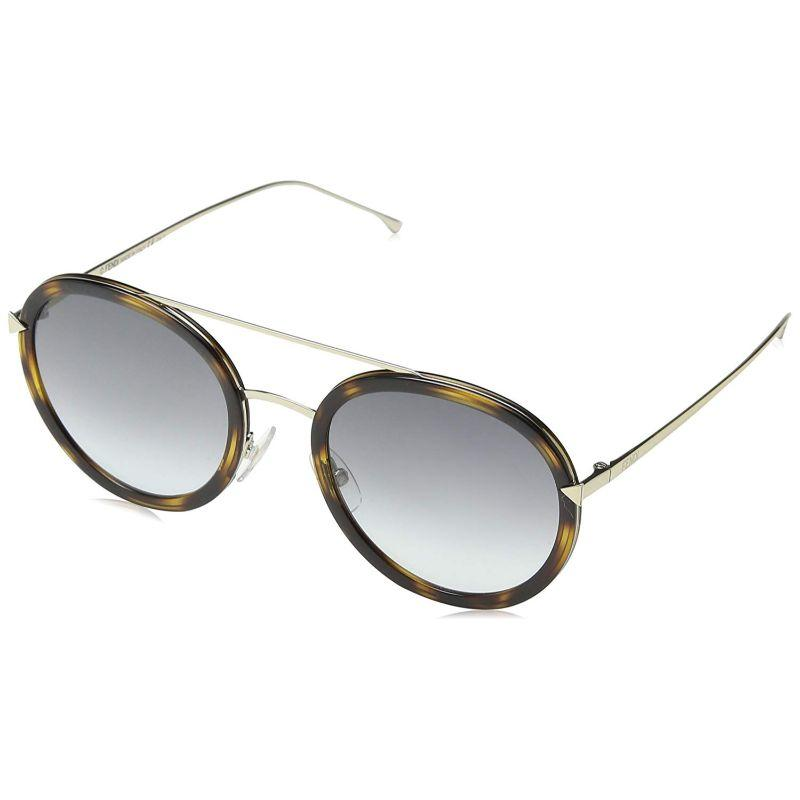 Daily Steals-Fendi FF 0156/S-0V4Z-51/22 Sunglasses Gold Havana Grey Gradient 51mm-Sunglasses-