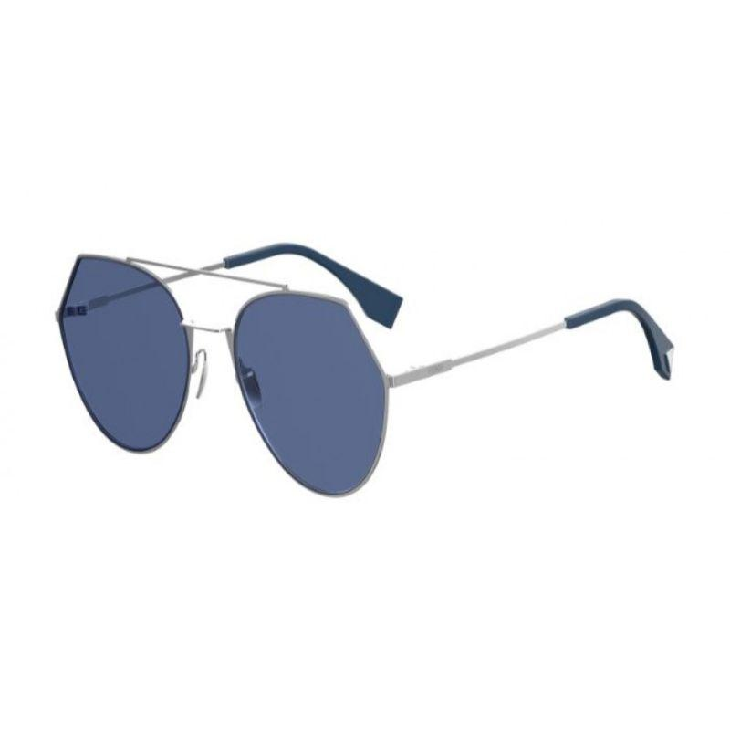 Daily Steals-Fendi FF 0194/S-PJP-55KU Sunglasses Eyeline Silver Frame Blue Lens 55mm-Sunglasses-