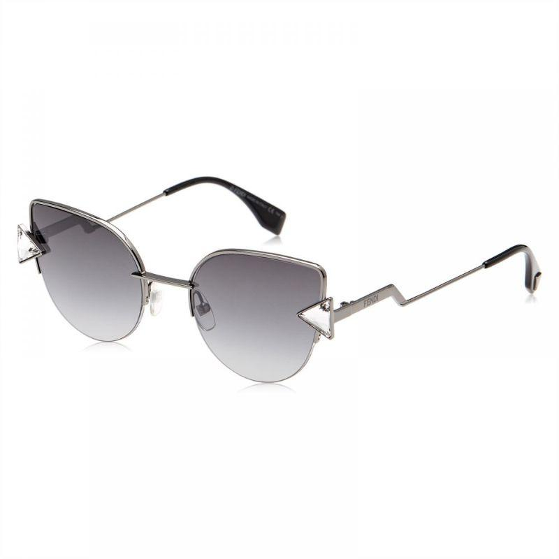 Daily Steals-Fendi FF 0242/S Dark Ruthenium 0KJ1 / dark gray gradient lens Sunglasses-Sunglasses-