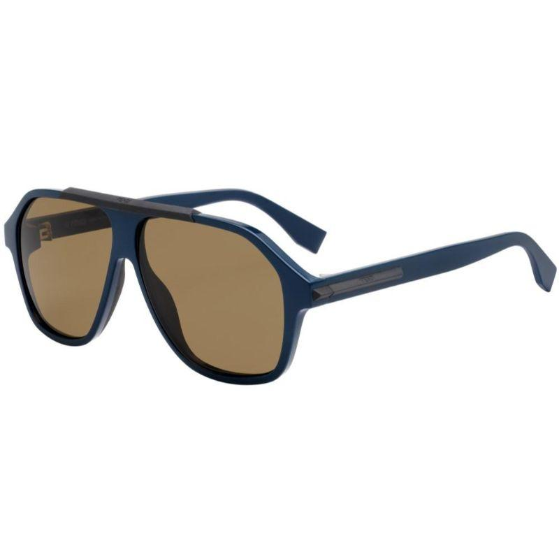 Fendi FF M0027/S-ZI9-5970 Sunglasses Blue Frame Brown Lenses 59mm-Daily Steals