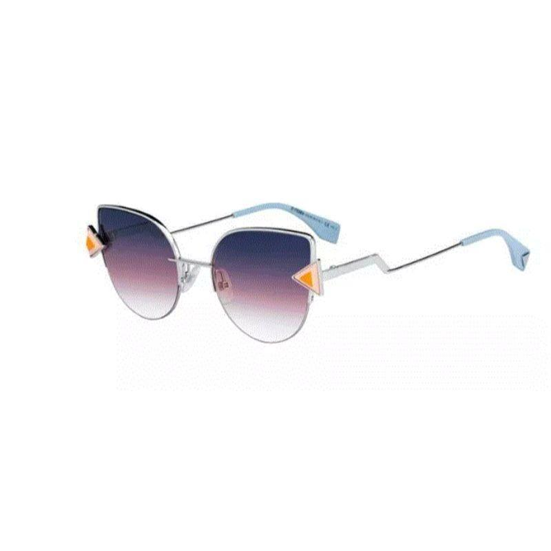 Fendi Rainbow 0242/S TJV/FF 52 mm Palladium Sunglasses-
