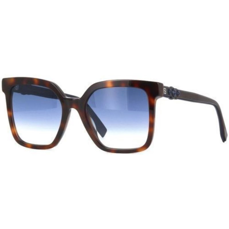 Fendi FF 0269/S Dark Havana 0086 / Dark Blue Gradient Lens Sunglasses-Daily Steals