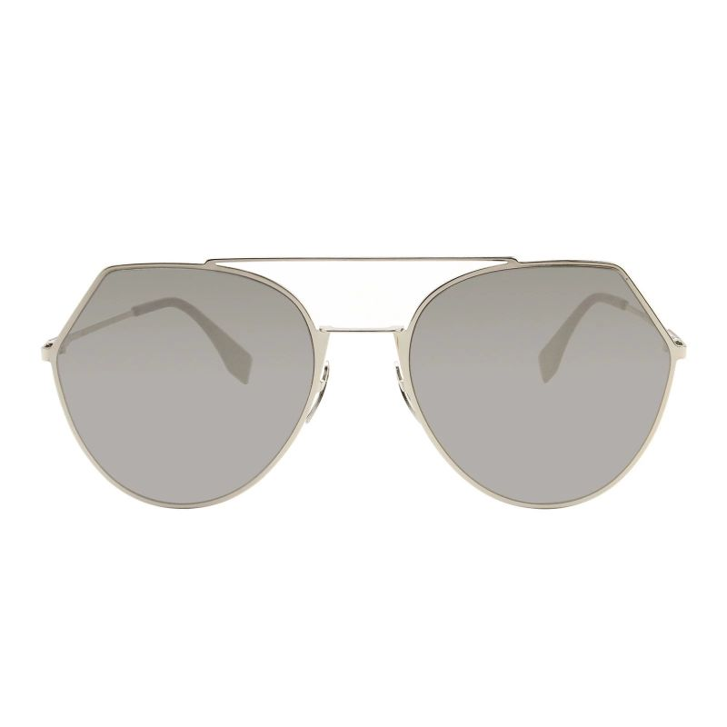 Fendi FF 0194/S Light Gold 03YG / Gray Silver Lens Sunglasses-Daily Steals