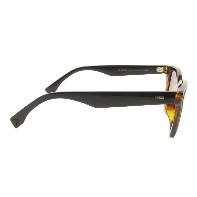 Fendi FF 0195 / S Havana Black 0LC1 / Brown Gradient Lens Sunglasses-Daily Steals