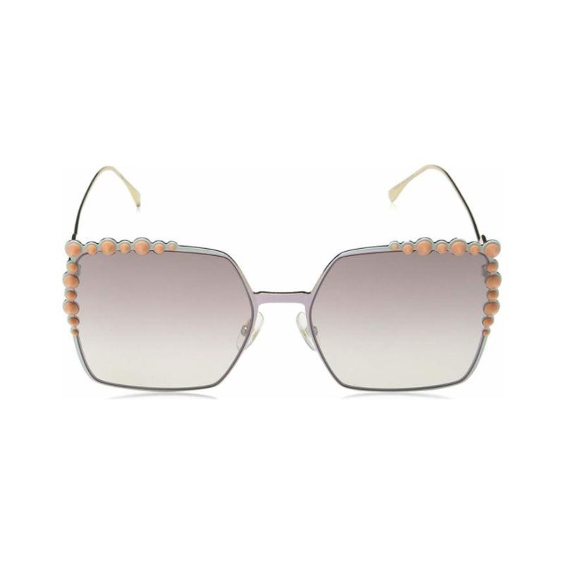 Fendi FF 0259/S Pink 035J / Brown Mirror Gradient Lens Sunglasses-Daily Steals