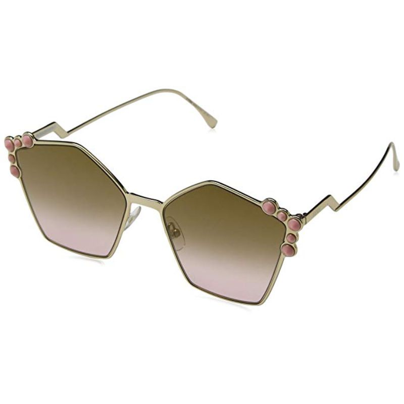 Fendi FF 0261/S Rose Gold 0000 / Brown Gradient Lens Sunglasses-Daily Steals