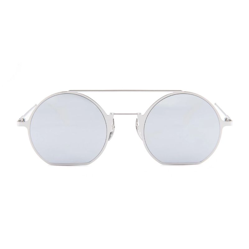 Fendi Eyeline FF 0291/S-0010-48/22 DC Palladium Sunglasses Mirror Lens-Daily Steals