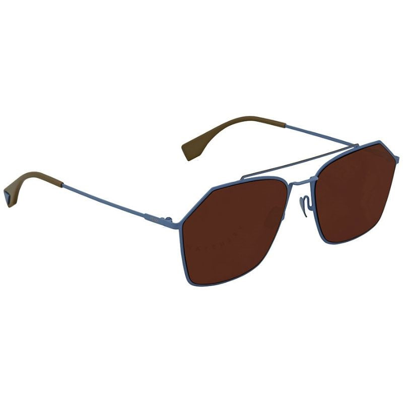 Fendi FF M0022 / F / S-0MVU-59/17 Lunettes de soleil Aviator Brown Lens 59mm-Daily Steals