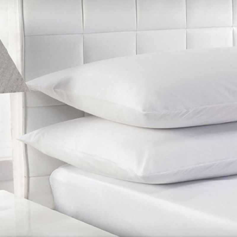 Beauty Sleep 100% White Duck Feather Pillows with 100% Cotton Cover-2 pack-Standard/Queen-Daily Steals