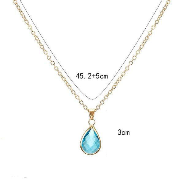 Cubic Zirconia Pear Shaped Necklace-Daily Steals