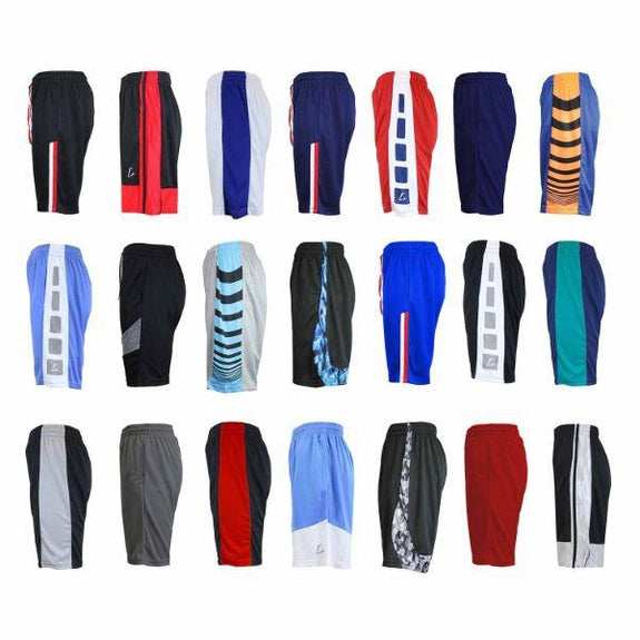 Daily Steals-Mystery Deal: Men's Moisture-Wicking Mesh Shorts M-2X - 8 or 10 Pack-Men's Apparel-8 pack-M-
