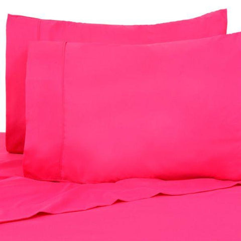 Daily Steals-Color Bright Sleep Tight Brushed Hypoallergenic Sheets - 4 Piece Set-Home and Office Essentials-Hot Pink-Twin/Twin XL-
