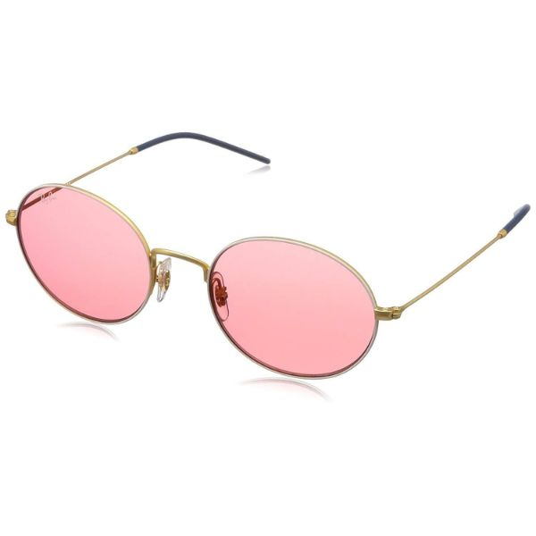 Daily Steals-Ray-Ban RB3594-9093C8-53 Beat Oval Sunglasses Gold-Tone Red Classic Lenses-Sunglasses-