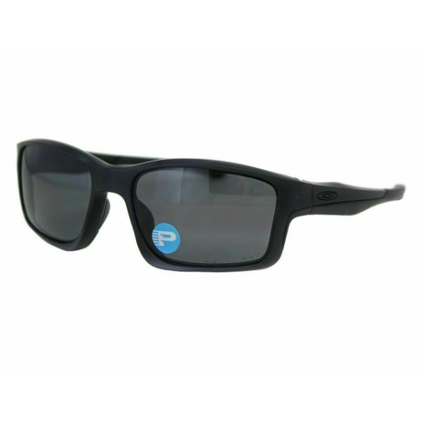 Oakley OO9247-15 Mens Chainlink Sunglasses - Matte Black Grey Polarized Lens-Daily Steals