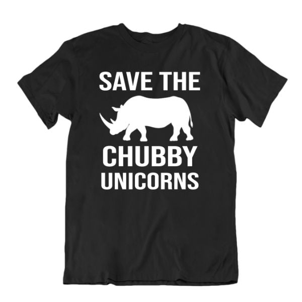 Save The Chubby Unicorns T-Shirt-Black-S-Daily Steals