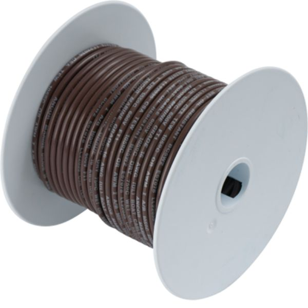 Wire, 100' #14 Tinned Copper, Brown By Ancor-Daily Steals