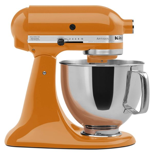 KitchenAid Artisan Series 5-Qt. Stand Mixer with Pouring Shield - 6 Colors-Tangerine-Daily Steals