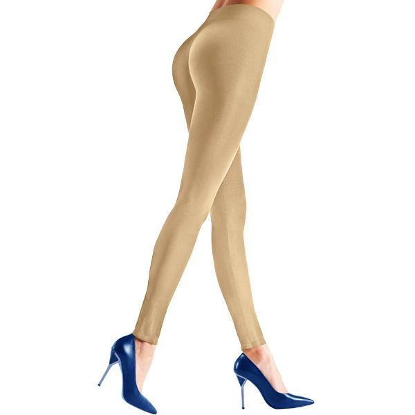 Womens Seamless Body Shaper Premium Stretch Leggings-NUDE-L/XL-Daily Steals