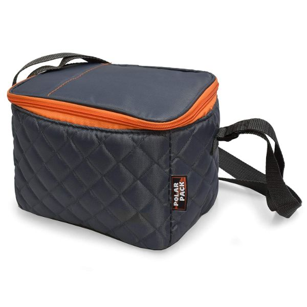 POLAR PACK Quilted 6 Can Cooler-Grey-Daily Steals