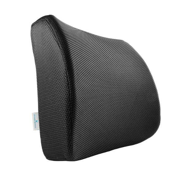 PharMeDoc Lumbar Support Pillow - Adjustable Memory Foam Seat Cushion-Black-Daily Steals