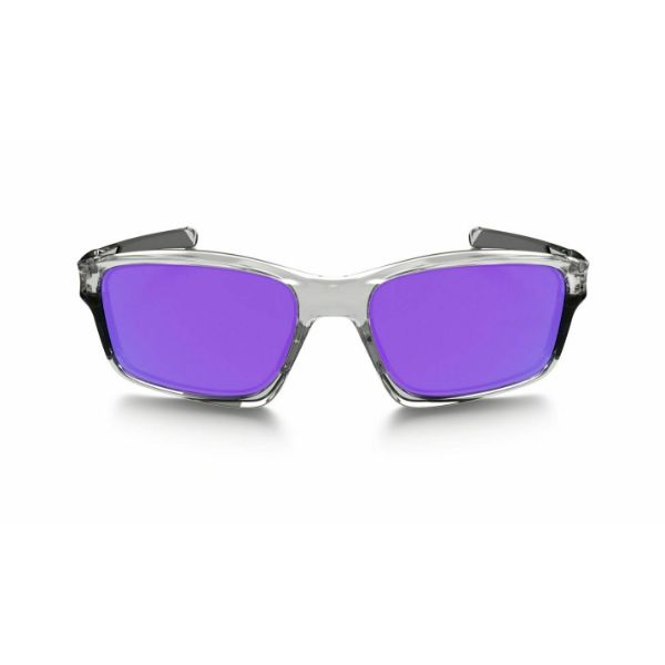 New Oakley Chainlink OO9247 06 Polished Clear Frame Violet Lens Sunglasses-Daily Steals
