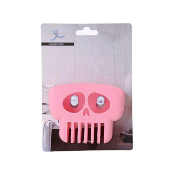 Skeleton Designed Kitchen Bathroom Suction Cup Sponge Holder - 3 Pack - 3 Colors-Daily Steals