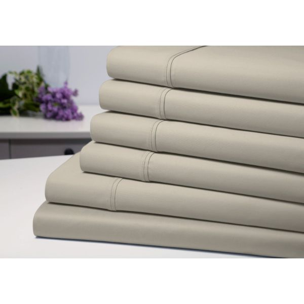Bamboo 6-Piece 1800 Count Extra Soft Luxury Sheet Set-Taupe-Full-Daily Steals