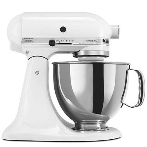 KitchenAid Artisan Series 5-Qt. Stand Mixer with Pouring Shield - 6 Colors-White-Daily Steals