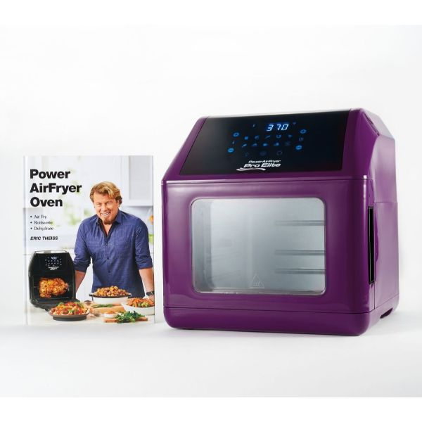 Power Air Fryer 10-in-1 Pro Elite Oven 6-qt with Cookbook-Purple-Daily Steals